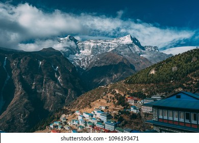 the Namche Bazaar. (on the way to the everest base camp)