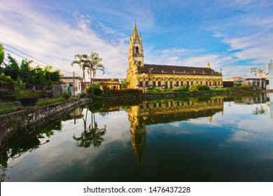 NAMDINH, VIETNAM - JULY 28, 2019: Scenery of an ancient Catholic church inside Bao Dap village. This is a location very famous for handicraft and Catholic churches.
