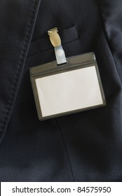name tag with clip
