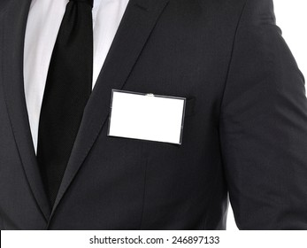 Name tag. Space for your message.