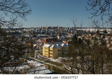 Namest Nad Oslavou winter landscape view with  Church of Saint John the Baptist, Czech Republic - Shutterstock ID 1926197717