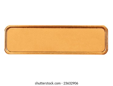 nametag isolated on white