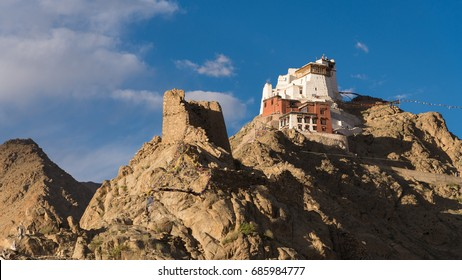 Namgyal Tsemo Monastery surrounded with stones and rocks , Leh, Ladakh, Jammu and Kashmir, India