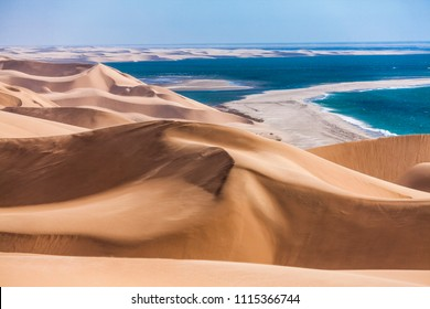 The Namib desert along side the atlantic ocean, southern Africa, Namibia