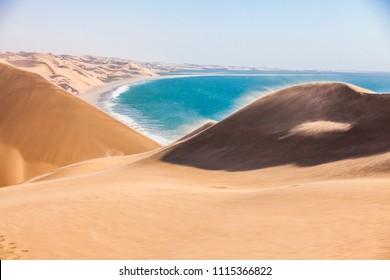 The Namib desert along side the atlantic ocean, southern Africa, Namibia