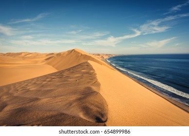 The Namib Desert at Sandwhich Harbour in Namibia