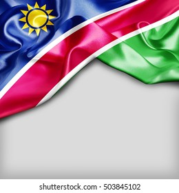 Namibia Country Flag on white background