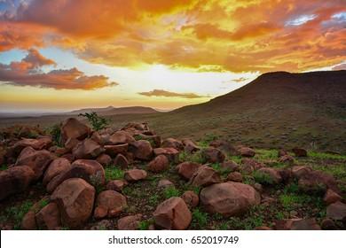 Namibia Damaraland sunset