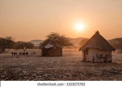 Namibian Village st sunset