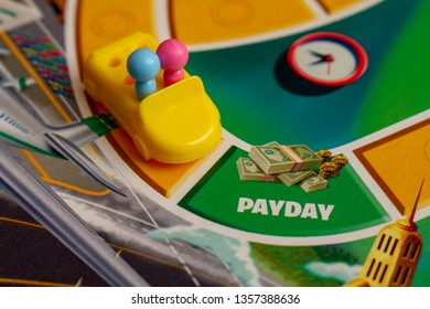 NAMPA. IDAHO - September 8, 2018: Making the money as it is payday in the game of life