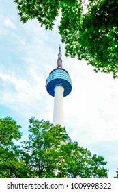 Namsan N Seoul Tower, stands 480 meters above sea level, Seoul, South Korea