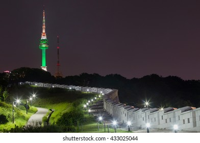 Namsan Park and N Seoul Tower at Night, South Korea