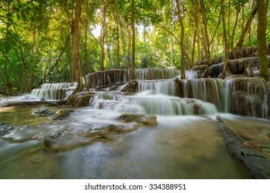 Namtok Huai Mae Khamin  Waterfall at Kanchanaburi Thailand