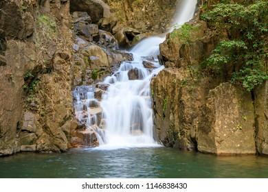 Namtok Phlio waterfall in Chanthaburi, east of Thailand