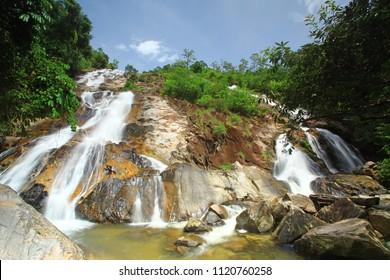 Namtok Tone Nga Chang or The Elephant Tusks Waterfall in Tone Nga Chang wildlife sanctuary Songkla, Thailand