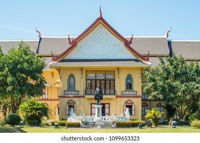 Nan province, Thailand : January-17-2017 :  Scenery view of Nan national museum in Nan province of Thailand. One of the most famous Iconic landmark of Nan province.