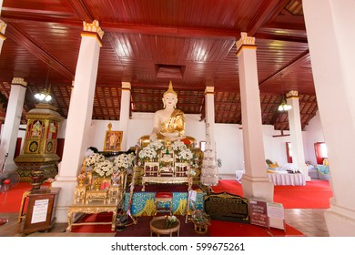NAN, THAILAND - DECEMBER 12 : Beautiful of buddha at Wat Phra That Khao Noi, Nan, Thailand. The temple at important and famous for many tourist come to travel at Nan province,Thailand.