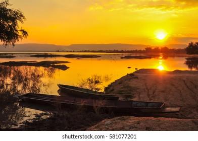Nan, Thailand - Jan 22, 2015 - Pak nai fisherman village view in southern of Nan province Thailand.