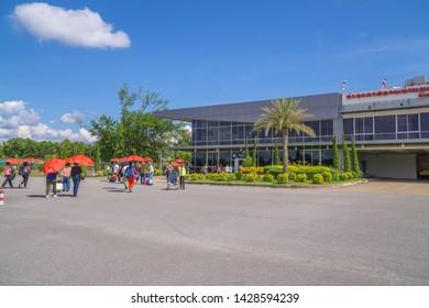 NAN, THAILAND - Nov 18, 2018: Passenger arrived at Nan Nakhon Airport, Nan, Thailand.