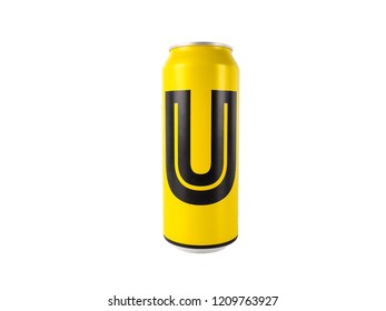 Nan, Thailand - October 10 2018: U beer big can 490 ml major ingredient from fine quality malt, rice and hop, Alcohol content 4.5% by volume, The beer products from thailand.