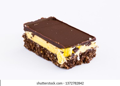 Nanaimo Bar. The Nanaimo bar is a dessert item of Canadian origin. It is a bar dessert which requires no baking and is named after the city of Nanaimo, British Columbia, on Vancouver Island.