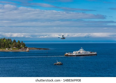 NANAIMO, BRITISH COLUMBIA- May 18, 2017: Harbour Air Seaplanes is a scheduled floatplane service, tour and charter airline based in Richmond, British Columbia, Canada.
