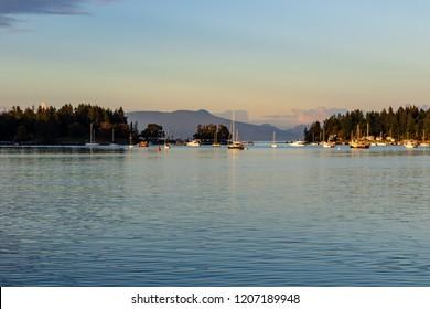 Nanaimo Sunset Harbour View at Nanaimo, British Columbia, Canada
