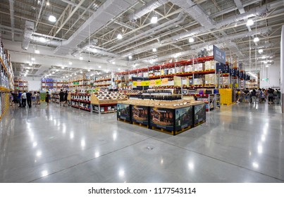 NANCHANG CHINA-Aug28, 2018: Sam's Club Store of Wal-Mart Group Storage Supermarket attracts consumers to buy daily necessities from the world. Chinese consumer prices rose 2.3% over the same period.