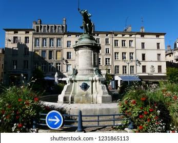 Nancy / France - 10.18.2014: Monument to Duke of Lorraine René II.