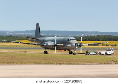 NANCY, FRANCE - JUL 1, 2018: French Navy Breguet Atlantic ATL-2 Maritime Patrol Aircraft on the tarmac of Nancy Airbase.