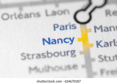 Nancy Map Stock Images RoyaltyFree Images Vectors Shutterstock