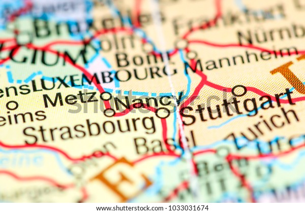 Map Of France Nancy.Nancy France On Map Stock Photo Edit Now 1033031674