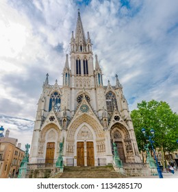 NANCY,FRANCE - MAY 23,2018 - View at the Basilica of Saint Epvre in Nancy. Nancy is situated on the left bank of the river Meurthe.