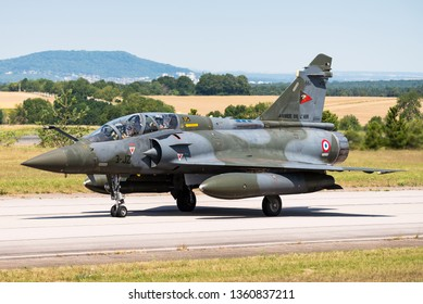 Nancy-Ochey Air Base, France June 10, 2018: A French Air Force Dassault Mirage 2000D at Nancy-Ochey Air Base, France.