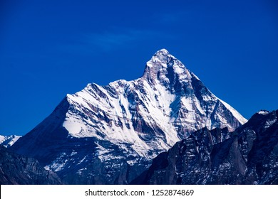 Nanda Devi peak as seen from Auli in Joshimath.