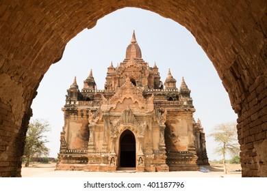 Nandamannya Temple at north of Minnanthu, Bagan, Myanmar