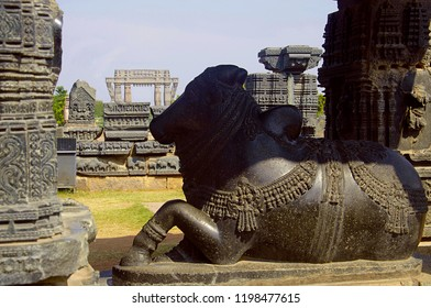 Nandi bull, Temple complex, Warangal Fort, Warangal Telangana India