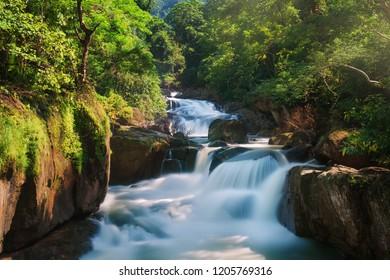 Nang Rong waterfall in Nakorn Nayok, Thailand