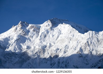 Nanga Parbat (Killer Mountain) locally known Diamer, in the world at 8126 meters above sea level. At that moment an avalanche was appeared.