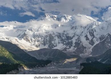 Nanga Parbat mountain massif in Himalaya range, Chilas, Pakistan, Asia