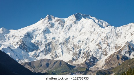 Nanga Parbat is the ninth highest mountain in the world and western anchor of the Himalayas. Located in Pakistan, it is one of the 14 eight-thousanders, with a summit elevation of 8126 m.