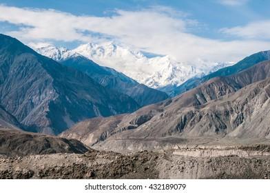 Nanga Parbat seen from Karakorum Highway