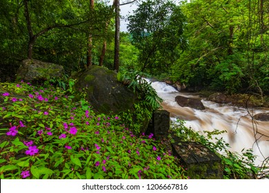 Nang-Rong waterfall, Beautiful waterfall in Nakornnayok  province, ThaiLand.