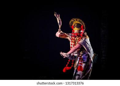 Nani a traditional mask dance of Losari, Cirebon, West Java, Indonesia.
