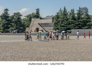 Nanjing / China - July 30th 2015: The Memorial Hall of the Victims in Nanjing Massacre by Japanese Invaders is a museum to memorialize victims killed in the Nanjing Massacre by the Japanese Army