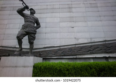 NANJING, CHINA-JUL 23: Statue in the Nanjing massacre memorial hall on July 23, 2011 in Nanjing, China.It is to memorialize 300,000 people killed in the Nanjing Massacre by the Japanese Army.