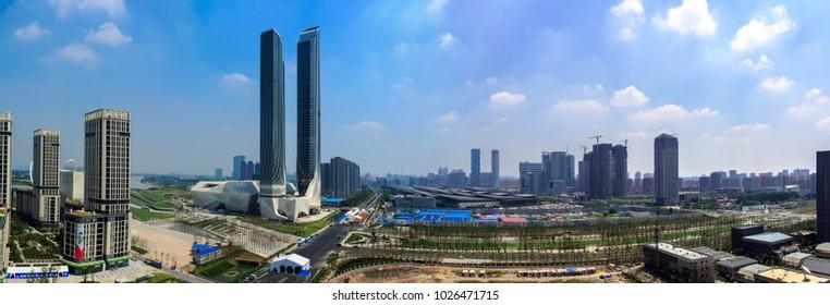 Nanjing City, Jiangsu Province, Green Village Poly Building architectural landscape