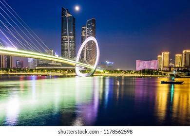 Nanjing eye pedestrian bridge, qingao village, nanjing city, jiangsu province, China