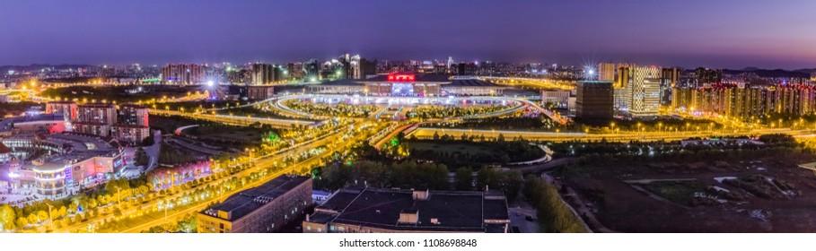 Nanjing High-speed Rail Station Building Landscape, Nanjing, Jiangsu Province