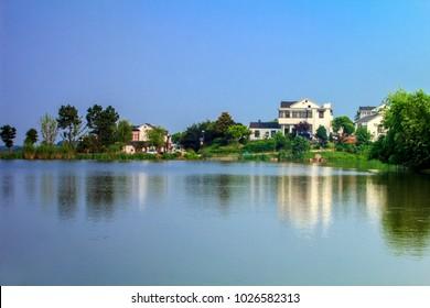 Nanjing, Jiangsu Province, Jiangning District Huanglong Xian Nong village rural landscape